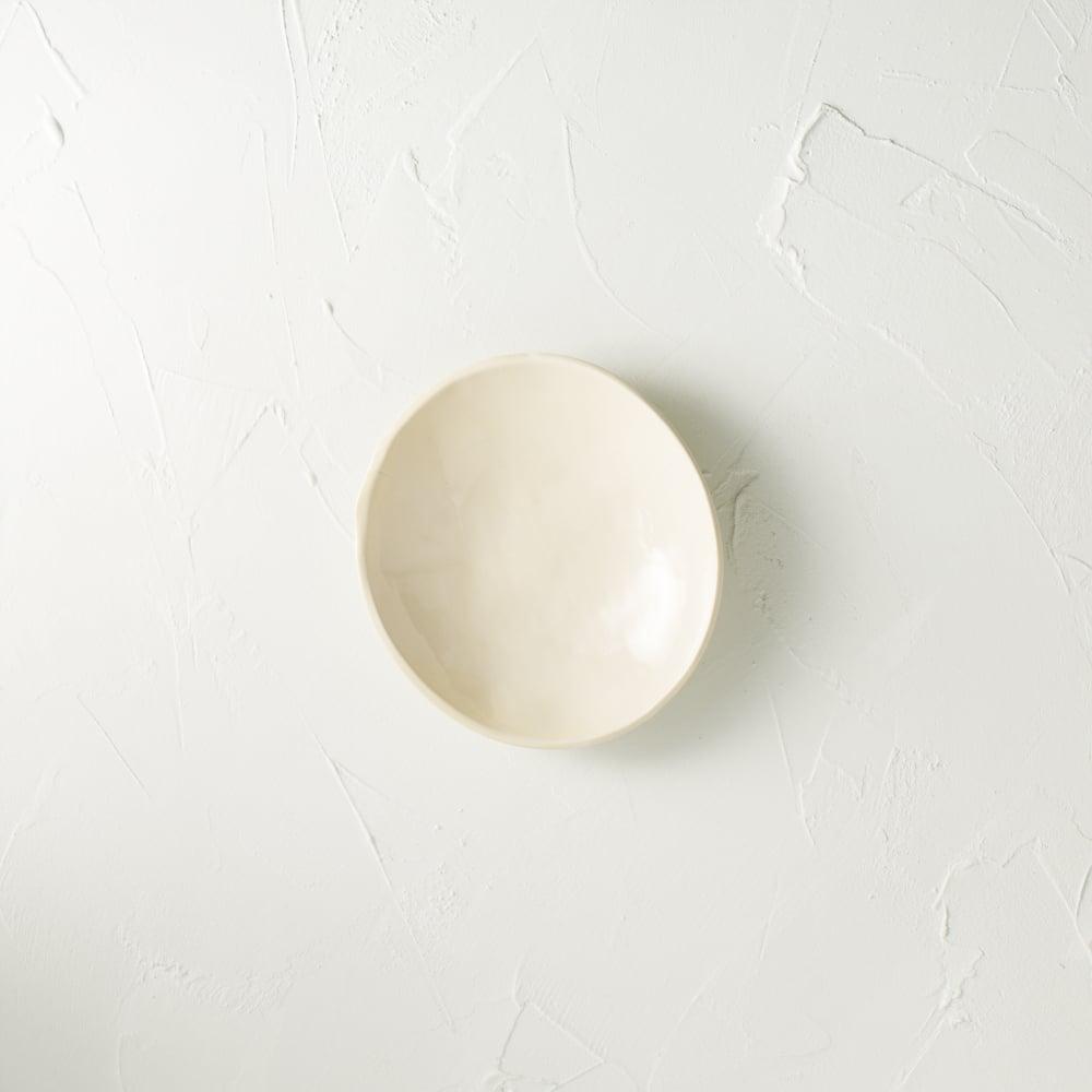 Image of Satin cream dish- SECONDS