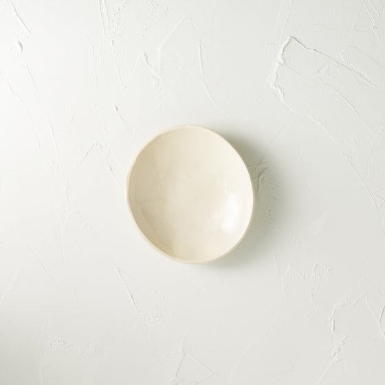Image of Satin cream dish- SECONDS