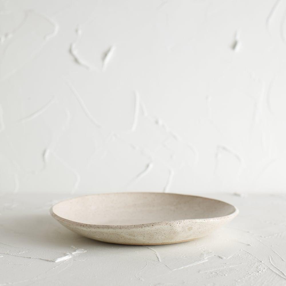 Image of Satin cream speckled bowl 2