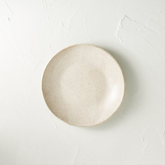 Image of Satin cream speckled bowl 2