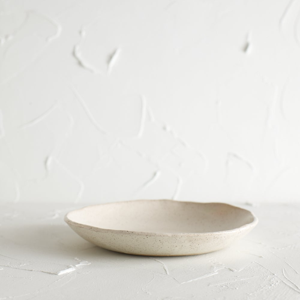 Image of Satin cream speckled bowl 3