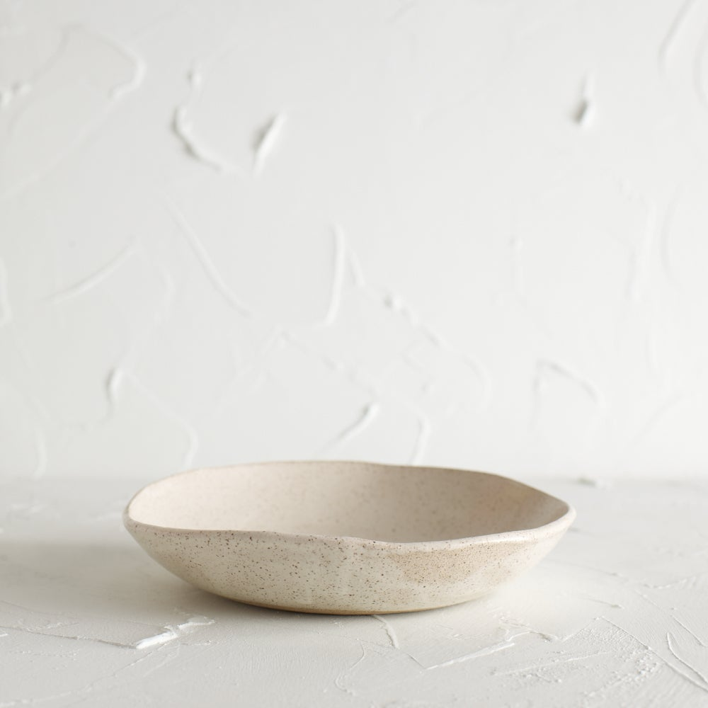 Image of Satin cream speckled bowl 4