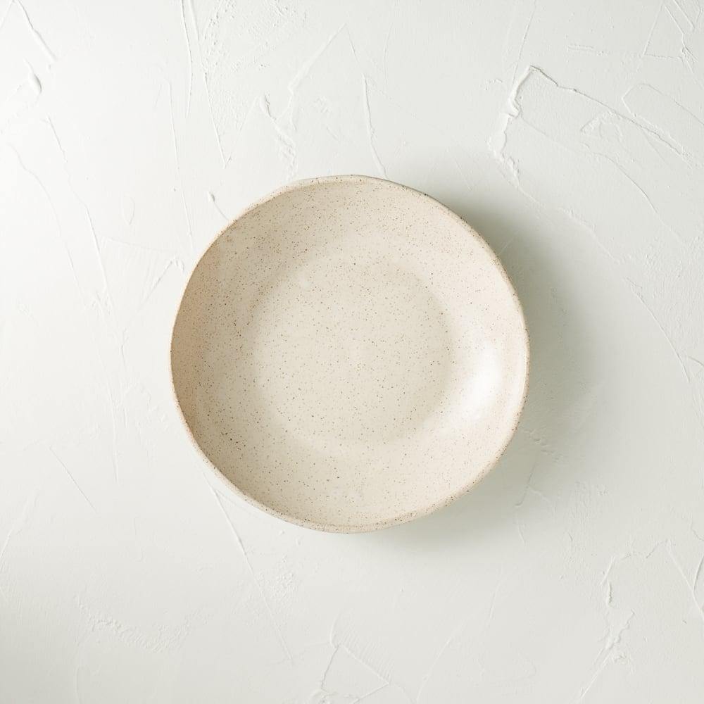Image of Satin cream speckled bowl 1