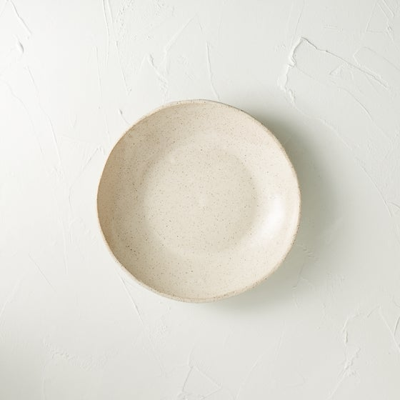 Image of Satin cream speckled bowl 1