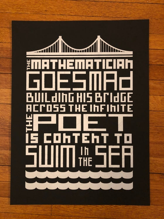 Image of Mathematician / Poet Print - Black
