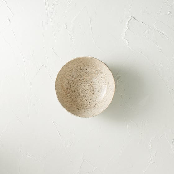Image of Cream speckled bowl 6