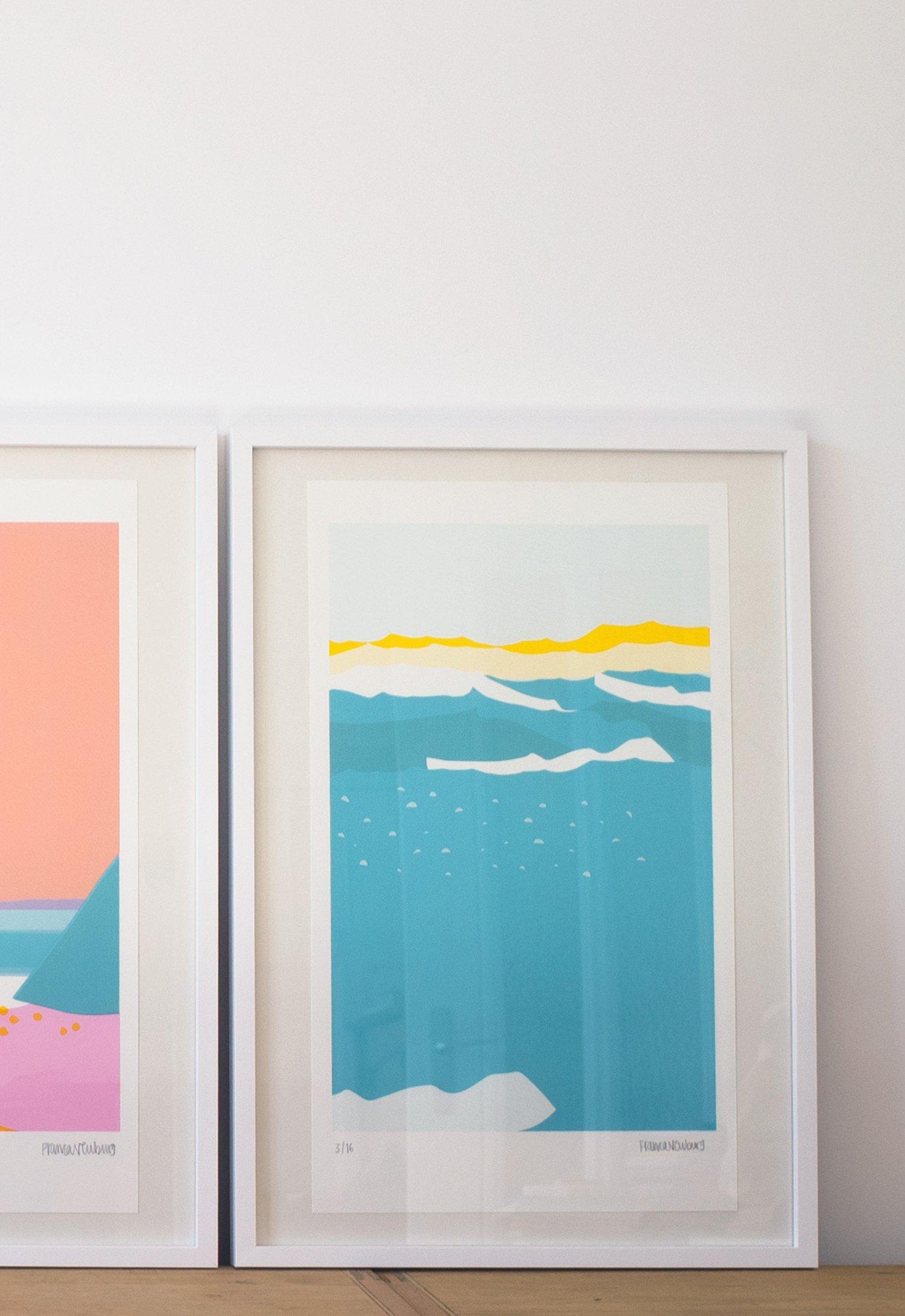 Image of Serigrafie Draussen gehen — Meer