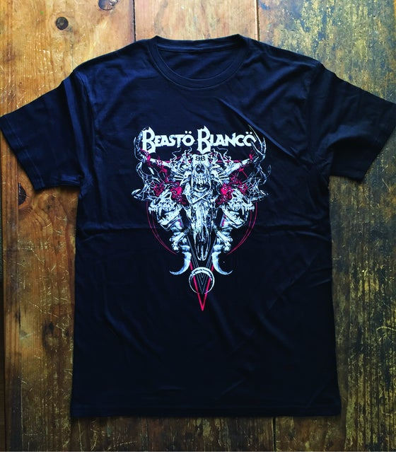 "Image of OFFICIAL - BEASTO BLANCO - ""COW-SKULL"" MARCH 2020 TOUR LIMITED ED. UNISEX BLACK SHIRT"