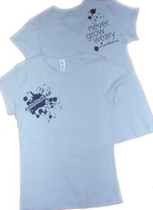 Image of Never Grow Weary Girls Fit T-shirt