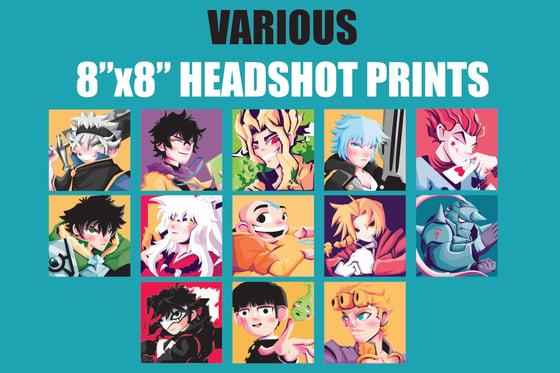"Image of Various 8""x8"" Headshot Prints"