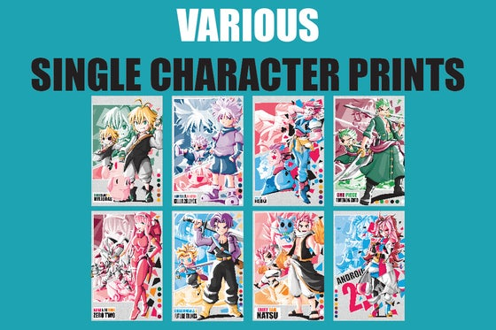 Image of Various Single Character Prints