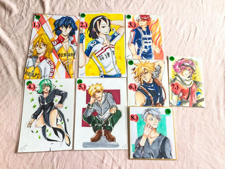Image of [Original Art] Yowamushi Pedal,BNHA,FLCL, OPM, and YOI