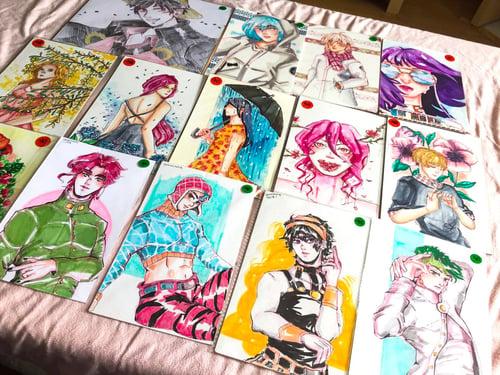 Image of [Original Art] One Piece,I7,JJBA,BTS, and Originals