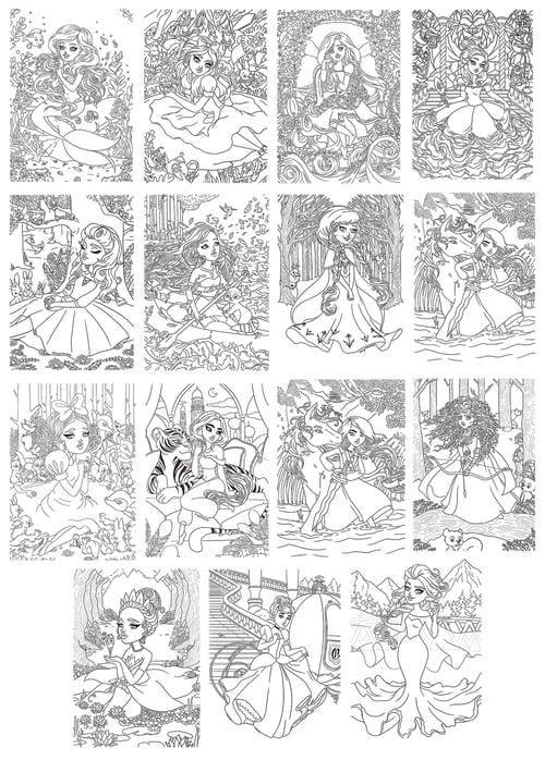 Image of Princesses Colouring Book Digital Download