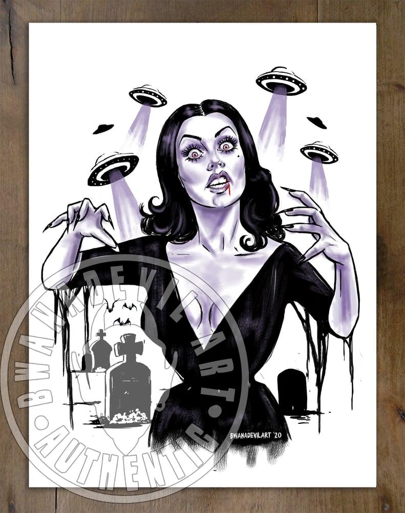 Image of Vampira Art Print 9 x 12 in.