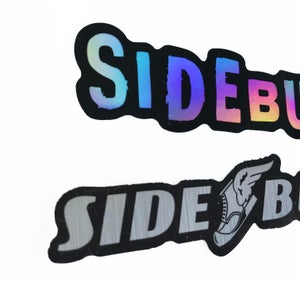 Image of Sideburn Metallic sticker pack