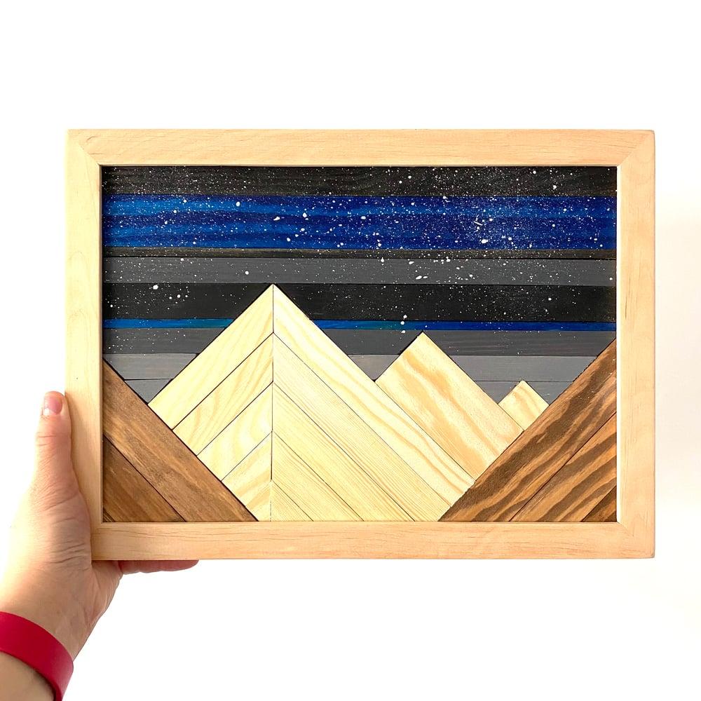 Image of Obraz gwieździste niebo i góry