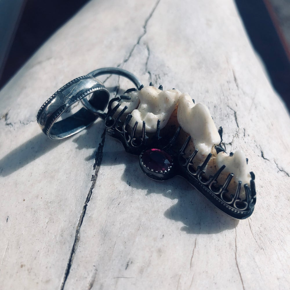 Image of Sterling Silver Fox Teeth Pendant By Arcane Forest