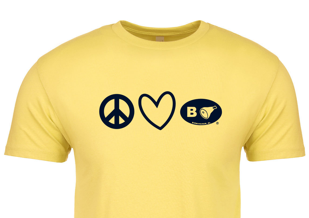 Image of COVID19 Relief:  Peace Love B'ham Tee