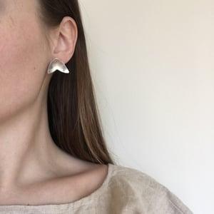 Image of field earring sterling