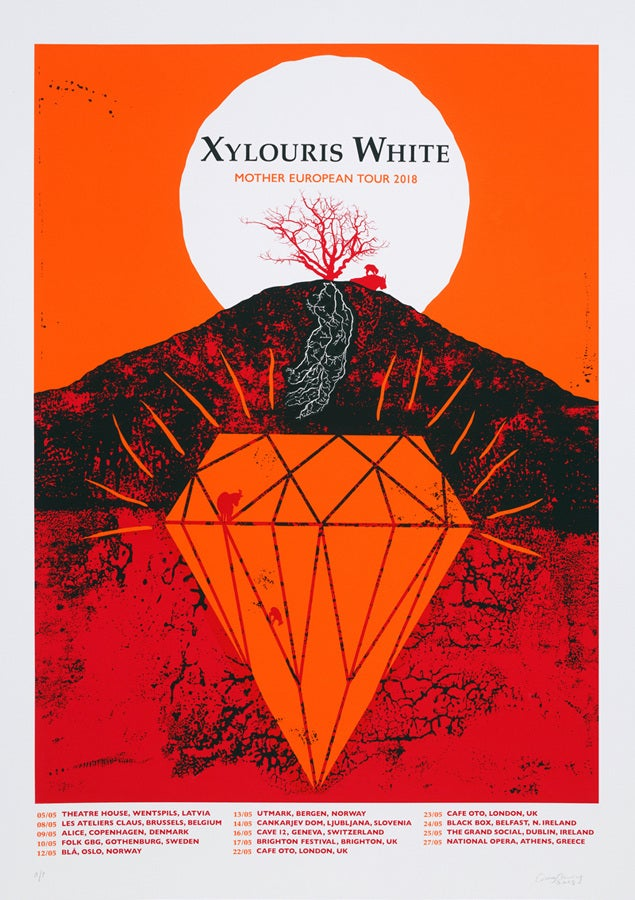 """Image of XYLOURIS WHITE, """"Mother"""" EU Tour 2018"""