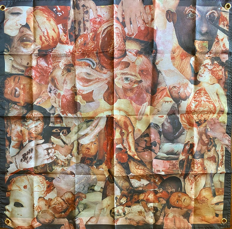 "Image of Carcass  "" Reek Of Putrefaction ""   - Banner / Tapestry / Flag"