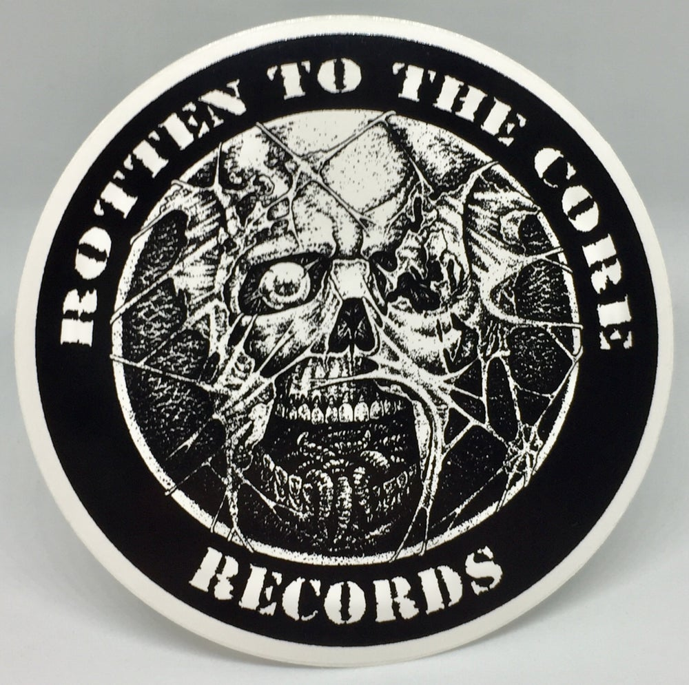"Image of Rotten To The Core Records 3.5"" Sticker"
