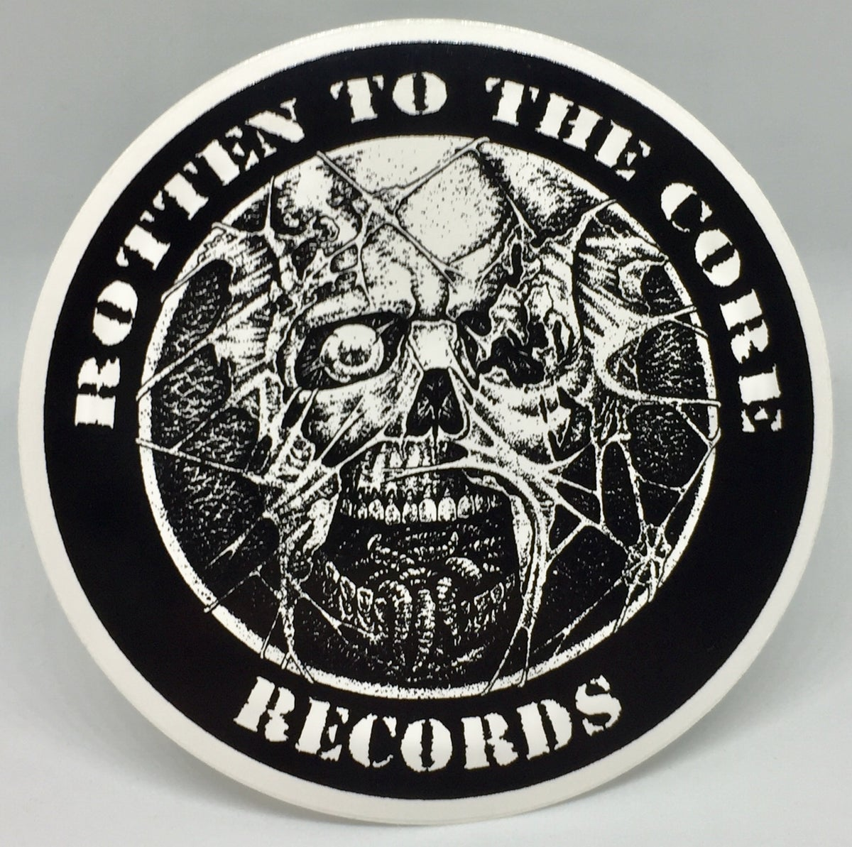 "Image of Rotten To The Core Records 3"" Sticker"