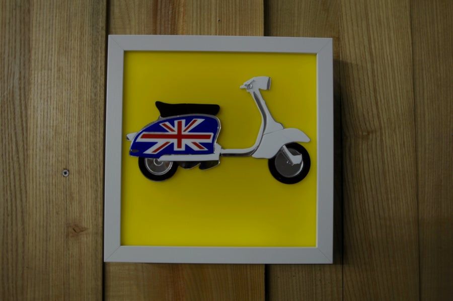 Image of Lambretta Scooter LED Wall Art