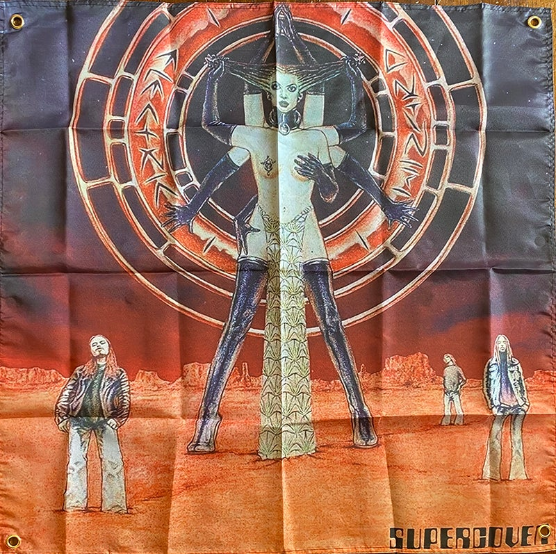 """Image of Electric Wizard """" Supercoven """"  Banner / Tapestry / Flag"""