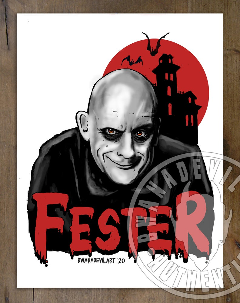 Image of Fester (The Addams Family) Art Print 9 x 12