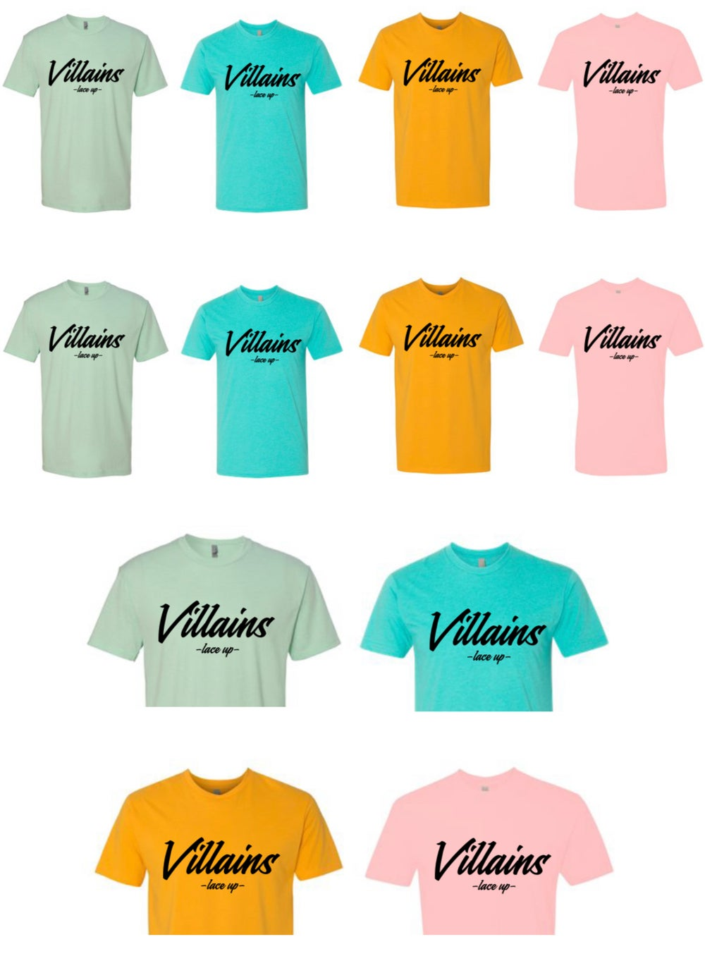 Image of VILLAINS LACE UP TEE/CROP
