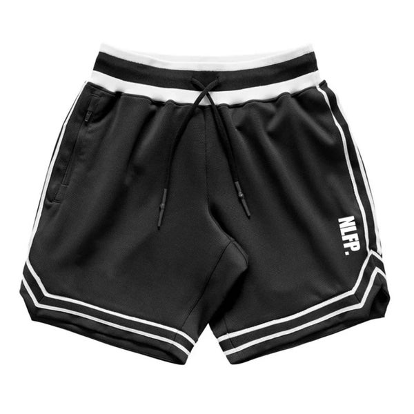 Image of STRIPE TRAINING SHORTS BLACK