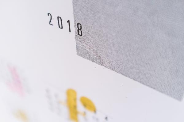 Image of 2018 year calendar