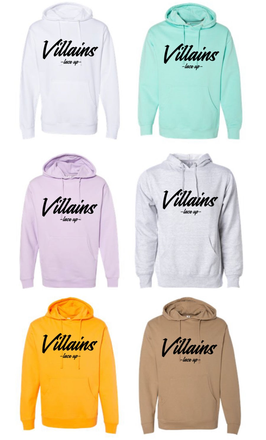 Image of VILLAINS LACE UP HOODIE/CROP
