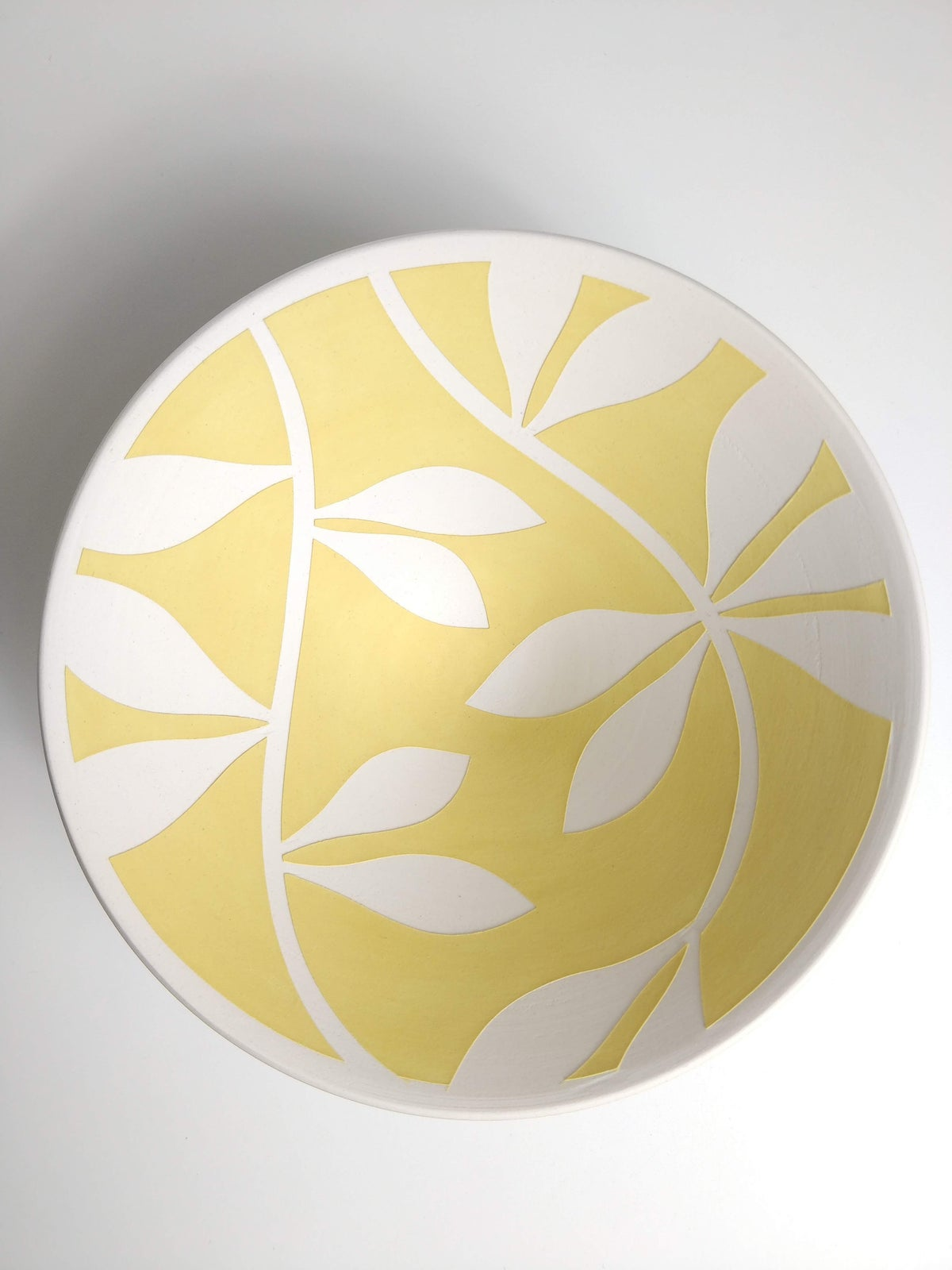 Image of Mini Yellow & White Leaf Bowl