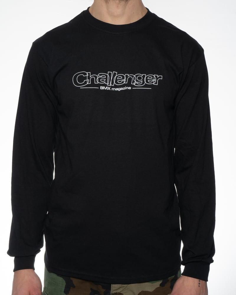 Image of Challenger Logo Long Sleeve T-Shirt - Black