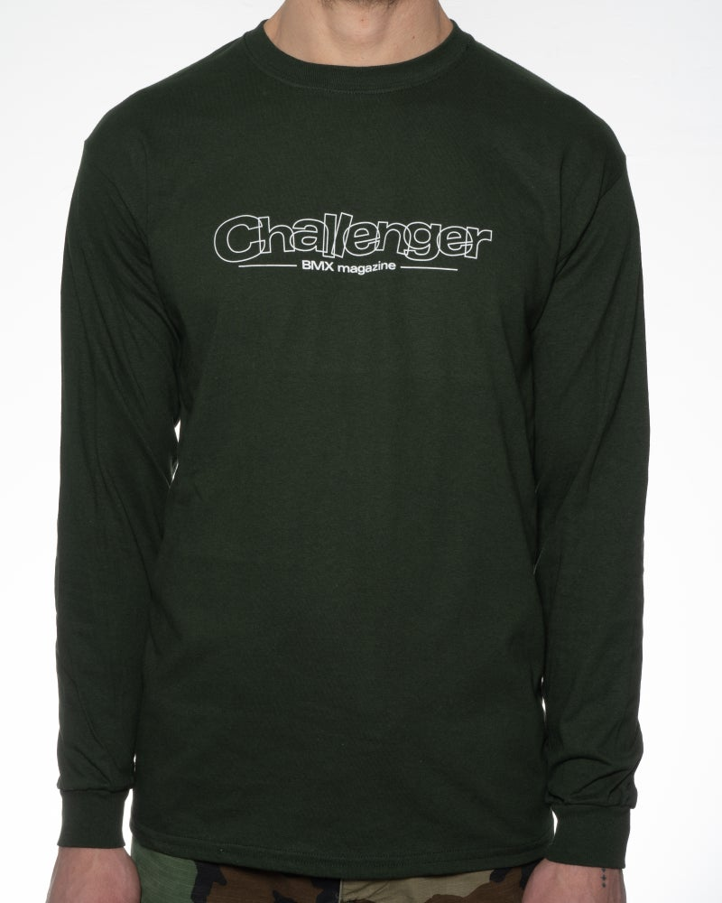 Image of Challenger Logo Long Sleeve T-Shirt - Forest Green