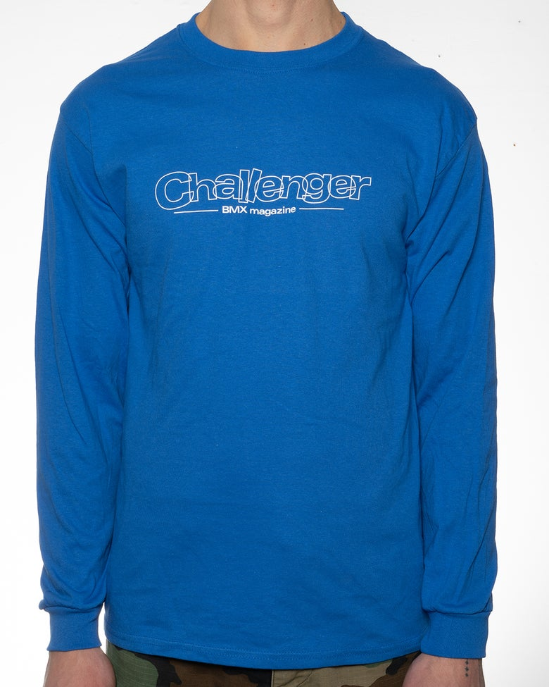 Image of Challenger Logo Long Sleeve T-Shirt - Royal Blue