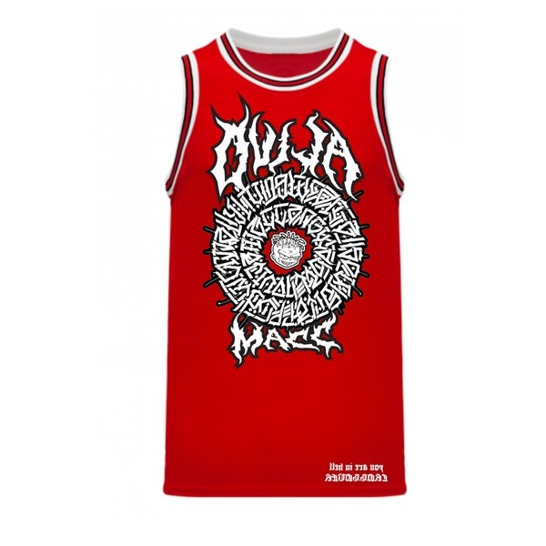 Image of The Secret Glyph of Wasteland - Warriorz Basketball jersey - Hatchet Red