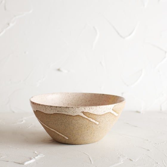 Image of Pale blush speckled bowl 2