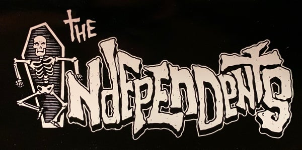 Image of The Independents cartoon logo sticker