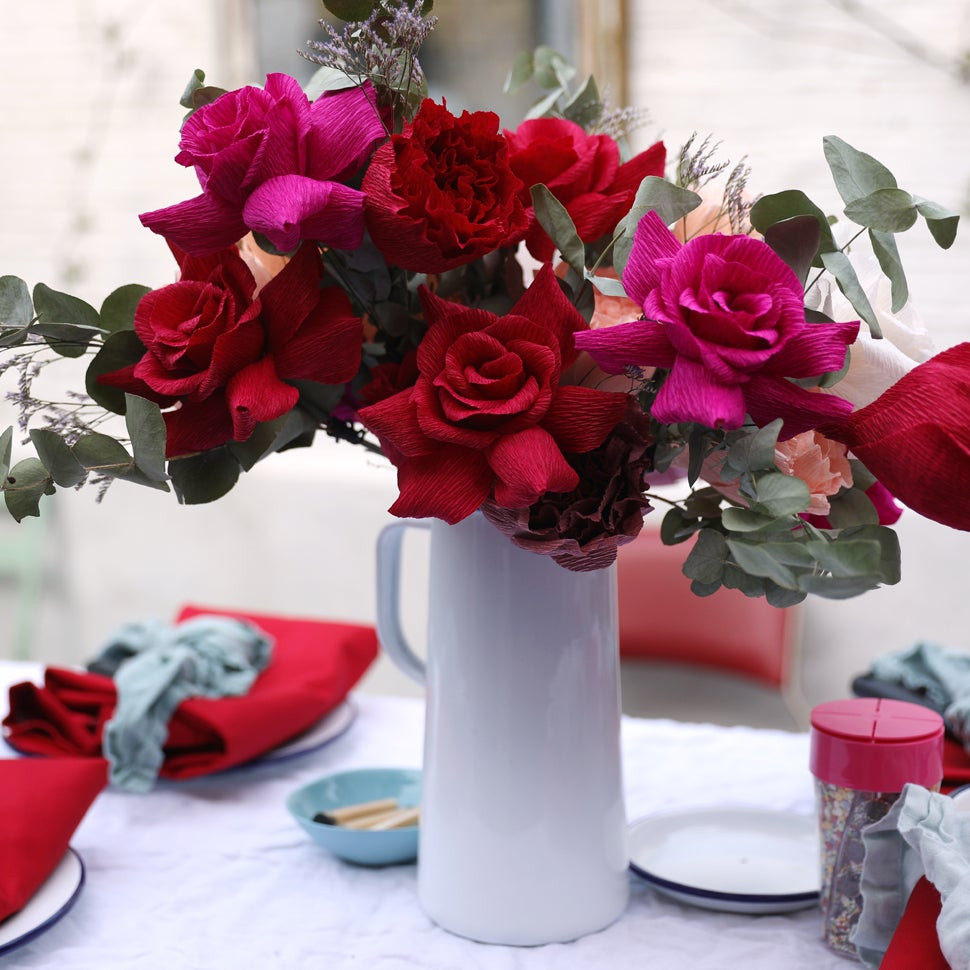 Image of Rose Bouquet - Red, Pink, Mauve