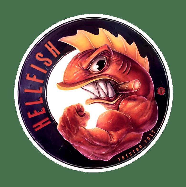 Image of Hellfish - Sticker