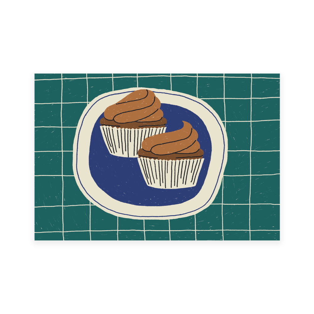 Image of cupcake postcard