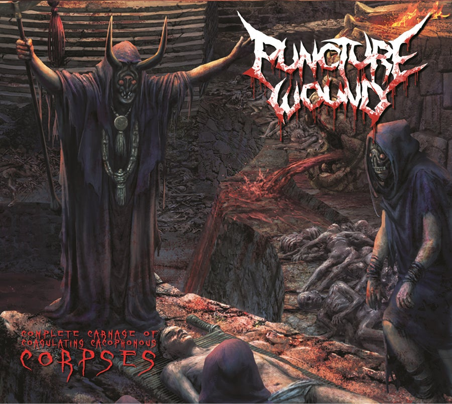 Image of Puncture Wound - Complete Carnage Of Coagulating Cacophonous Corpses CD Digipack