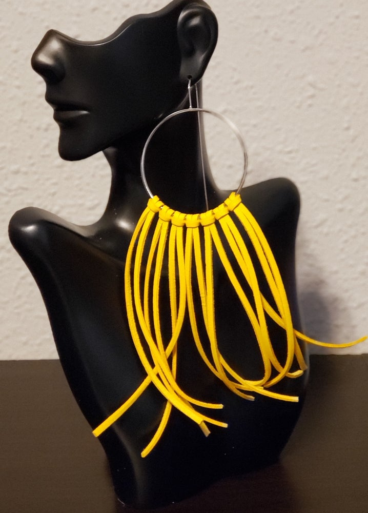 Image of Lela Fringe Earrings-Yellow Gold