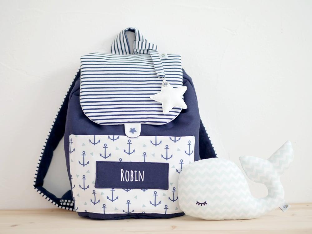 Image of Pré-commande | Nouvelle version du sac à dos MARIN avec Ancres et Triangles