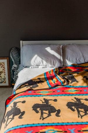 Image of Cowboy - Camp Blanket - Large