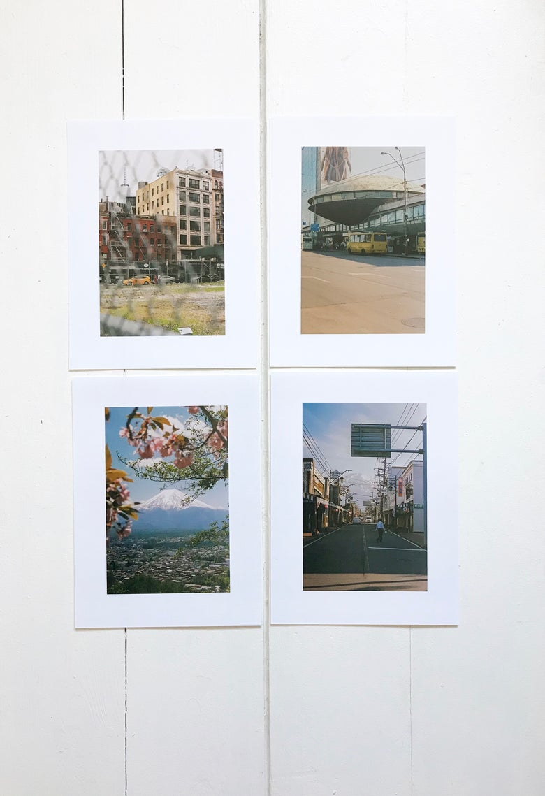 "Image of 4x 6x4"" Set of Japan/NYC/Kiev Prints"